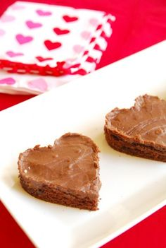 Granny's buttermilk cake brownies. Love cutting them into heart shapes! Such a good idea. #BabyCenterBlog