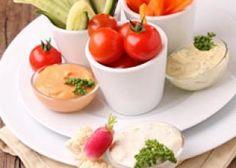 Légumes aux trois sauces ; je rajouterais une mayonnaise fortement safranée.