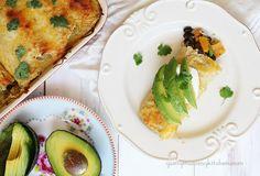 Roasted Butternut Squash & Black Bean Enchiladas