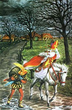 """In the Netherlands, Belgium and Luxembourg, Saint Nicolas, (""""Sinterklaas"""", often called """"De Goede Sint"""" — """"The Good Saint"""")"""