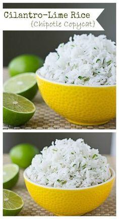 COPYCAT Chipotle Cilantro Rice