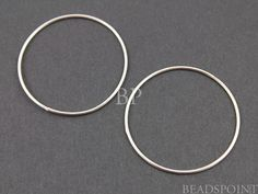 Sterling Silver Large Round Circle Link Elegant by Beadspoint, $4.99
