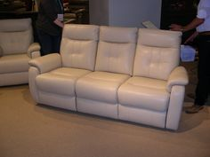 HTL Leather Sofa - High back, very contemporary.