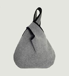 Borsa giapponese Kyoto sacchetto bianco e nero borsa di VATINEL