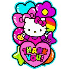 Show your appreciation with our Rainbow Hello Kitty Thank You Notes! Bright Hello Kitty thank you notes allow you to personalize your thank you notes in style. Hello Kitty Fotos, Hello Kitty Pictures, Hello Kitty Party Supplies, Kids Party Supplies, Hello Kitty Backgrounds, Hello Kitty Wallpaper, Sanrio, Hello Kitty Birthday, Cat Party