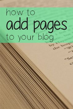 Learn how to add static pages and category pages to your blog.