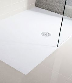 Simpsons White Anti-Slip Textured Slate Effect Shower Tray with Waste - 5 Size options Large Image