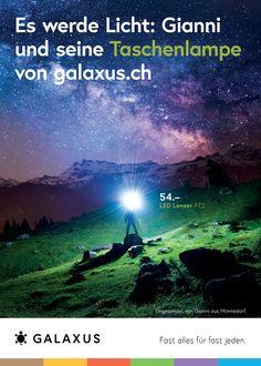 Es werde Licht: Gianni und seine Taschenlampe von galaxus.ch #GalaxusLive #Galaxus