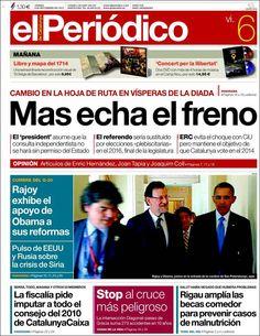 Los Titulares y Portadas de Noticias Destacadas Españolas del 6 de Septiembre de 2013 del Diario El Periódico ¿Que le pareció esta Portada de este Diario Español?