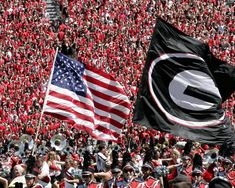So um, i am kind of in love with this picture! USA and Georgia Bulldogs :) happiness :)