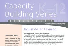 "Education Department Ontario gives a good overview of inquiry, with a focus on asking the ""right"" questions."