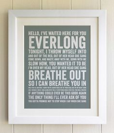 Everlong. Foo Fighters.