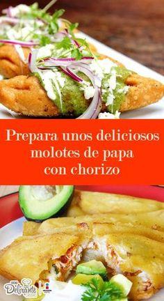 Molotes con papa y chorizo   CocinaDelirante