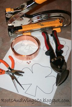 How to make your own cookie cutter!  And it could even be soldered instead of eyelet, yes I did just say that.  Personalized cookie cutters! http://basiccopper.com/how-to-make-copper-cookie-cutters.html okay here's the website to order copper and tutorial about soldering, ;).