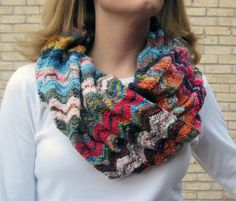 Ravelry: Project Gallery for Missoni Falls Cowl pattern by Jenny Nashmi