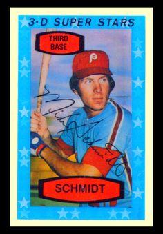 Mike Schmidt 1976 Hostess Baseball Cards | 1975 Kellogg's-3-D Super Stars