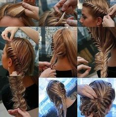 Fish braid up-do.