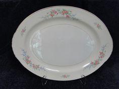 """$29.99 Homer Laughlin Eggshell Nautilus Ferndale 15 1/2"""" Oval Serving Platter - MINT! #HomerLaughlin"""