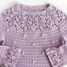 Berry Yoke Sweater crochet pattern soon to be published. Berry Yoke Sweater crochet pattern soon to be published. Crochet Shirt, Crochet Jacket, Crochet Cardigan, Knit Crochet, Crochet Stitches, Crochet Bodycon Dresses, Black Crochet Dress, Vintage Crochet Dresses, Knooking