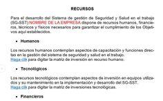 SGSST | RECURSOS