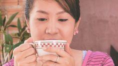 woman drinking essiac tea