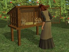 It's a hutch you can keep your rabbits in.  Each day your Sim can harvest rabbits for food or fur for later use.