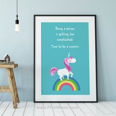 Unicorn Memes, Unicorn Poster, When You Believe, Frame, Fun, Posters, Etsy, Check, Collection