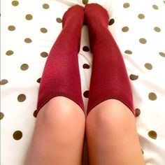 WHOLESALE Set of 5 Maroon Knee High Socks Wholesale Set of 5.  Maroon Knee High Socks. Made of Polyester. Bundle for an extra discount!  Comment first for reduced shipping. Accessories Hosiery & Socks
