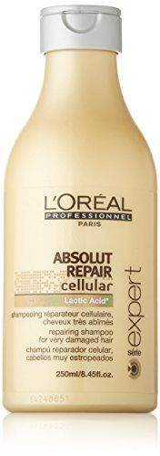 Loreal Professional Paris Absolut Repair Cellular Lactic Acid Shampoo 845Ounce Bottle >>> Learn more by visiting the image link.