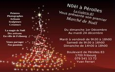 FRIBOURG Pérolles - 01.12.2014 to 24.12.2014. Times: Tue - Fri 09.30 - 18.00 / Sat 09. 30 - 16.00 / Sun 14.00 - 18.00 Christmas Markets, Winter, Sun, Times, Beginning Sounds, Photography, Winter Time, Winter Fashion