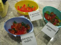 Alcohol infused gummy bears!  Read this blog for tips on making these addicting little treats.