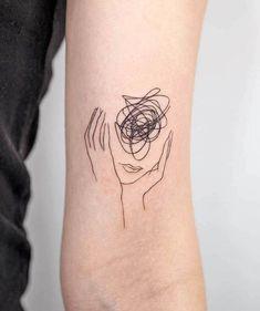 Dainty Tattoos, Pretty Tattoos, Small Tattoos, Line Art Tattoos, Body Art Tattoos, Sleeve Tattoos, Tattoo Art, Tatoos, Button Tattoo
