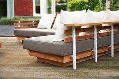 LIFE London Lounge Set - Loungebank - Garden - Furniture - Tuinset - Tuin - Gray - Grijs - White - Wit - Witte <3