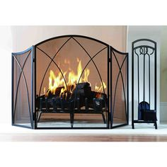 Hand Forged Fire Screen Made By Italian Iron In Austin Texas