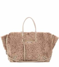 Papier B4 Zip-Around shearling shoulder bag   Balenciaga