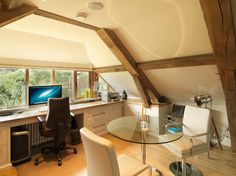 17th Century Thatched Cottage country-home-office