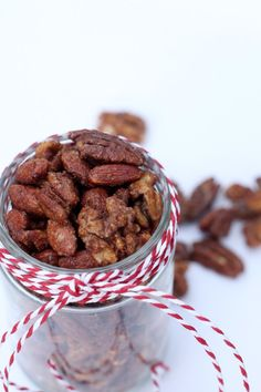 Not-too-sweet spiced nuts.