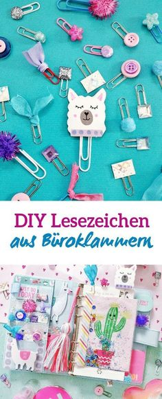 Drei Back to School DIY Ideen zum Nachmachen – kleinliebchen Many different ideas to make paper clips bookmarks and markers. The DIY bookmarks are not only practical but also cute to look at Diy Tumblr, Diy Crafts To Do, Paper Crafts, Diy Crafts Back To School, Decor Crafts, Diy Pour La Rentrée, Diy Marque Page, Diy For Kids, Crafts For Kids