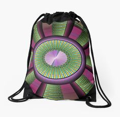 Moderne Fraktalkunst, rund, bunt und grafisch. • Also buy this artwork on bags, apparel, phone cases und more.