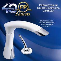 ¡Nuestra nueva grifería VULCANO blanco con sistema monomando joystick! Edición Especial Aniversario FP.