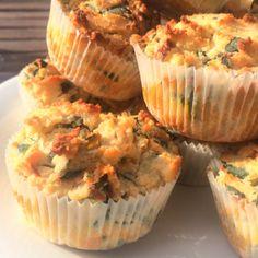 matmuffins med spenat, fetaost, timjan och soltorkade tomater glutenfritt, #paleo, #Lchf, #lowcarb