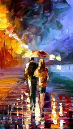 Leonid Afremov- new office artwork! love him wish I could buy all his real works.
