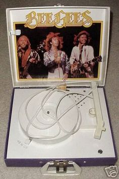 I got this for Christmas in 1980!!  Bee Gees Record Player 1979 .Mfg by Vanity Fair / Kidde
