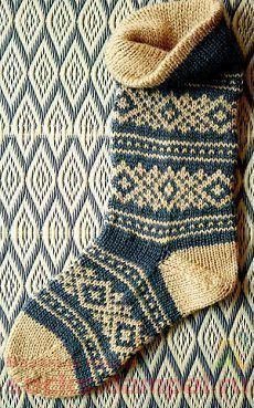 Knitting Patterns Socks Traditional Scandinavian pattern adorns the high … Knitted Boot Cuffs, Knitted Slippers, Knitting Socks, Hand Knitting, Knitting Patterns, Knit Socks, Scandinavian Pattern, Patterned Socks, Fair Isle Knitting