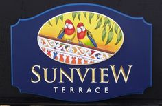 Sunview Terrace Property Sign / Danthonia Designs