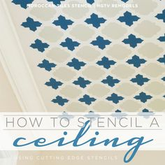 Stencil a fun pattern like the Moroccan Tiles using Cutting Edge Stencils and this easy how-to steps! http://www.cuttingedgestencils.com/moroccan-tiles-wall-pattern.html  #cuttingedgestencils #stencils #wallstencils #painted #ceiling #stenciling #pattern