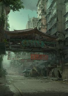 Hong Kong Jungle by artist Daniel Romanovsky.