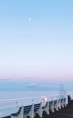 hanging moon with pastel haze Blue Aesthetic Pastel, Sky Aesthetic, Aesthetic Backgrounds, Aesthetic Wallpapers, Beautiful Places, Beautiful Pictures, Everything Is Blue, Nice View, Aesthetic Pictures