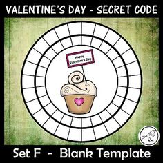 A super-fun activity for Valentine& Day. Make these secret code wheels and use them to write a secret message& for someone special. Included: ♦ 15 templates (different pictures in each wheel). ♦ Writing template - for Print Templates, Card Templates, Writing Template, Coding For Kids, Secret Code, Teacher Notes, Message Card, Classroom Resources, Chicago Cubs Logo