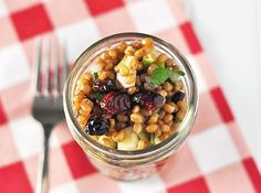 Wheat Berry Apple Salad | 28 Incredible Meals You Can Make In A Mason Jar